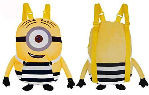 Minions Plush Backpack,School,Nursery,Picnics Plush Bag,Official Licensed