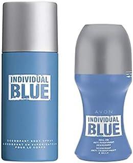 Avon Individual Blue Deodorant Body Spray and Roll-On Anti-Perspirant Deodorant