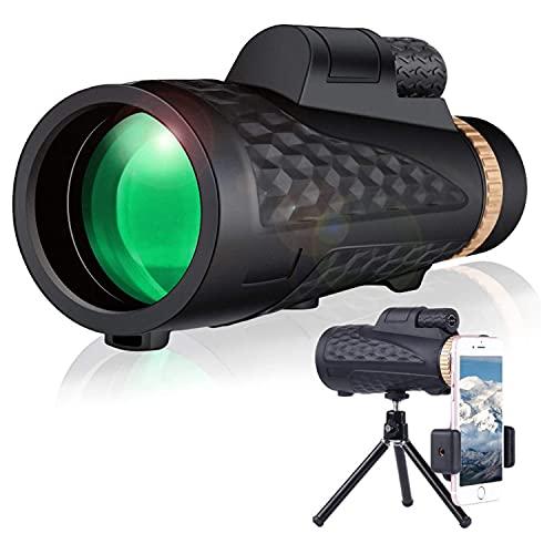 TaiWang Telescopio monocular de 12x50, visión Nocturna de la visión Nocturna, telescopio a Prueba de Agua, monocular de Alta Potencia, Doble Enfoque para observar la Caza de Aves
