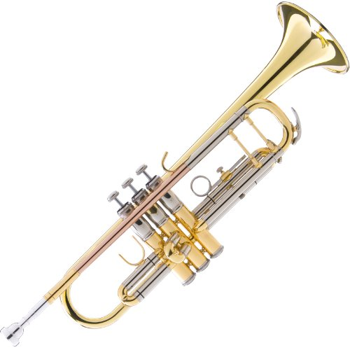 top 10 intermediate trumpet Mendini MTT-40 Bb Trumpet, Intermediate / Advanced Double Bundle