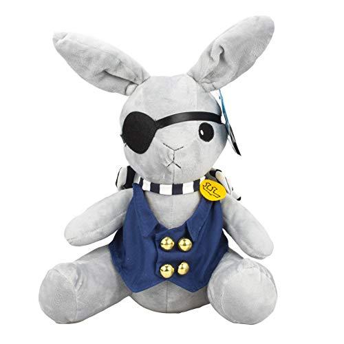ALTcompluser Kuroshitsuji Piratenkaninchen Plüsch, Black Butler Ciel's Rabbit Stofftier Kuscheltier