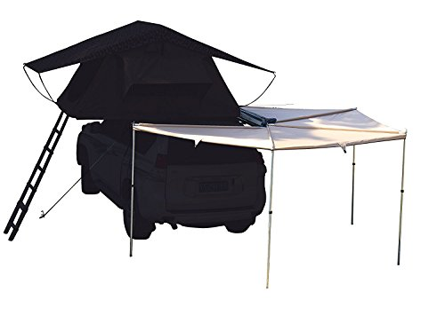 Canvas 270 Awning Rooftop Tent Sun Shelter Designed for Vehicle with Roof Rack- Right/Left Hand...