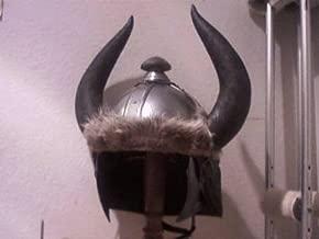 New Adult Full Size Steel Conan Medieval Helmet w Stand
