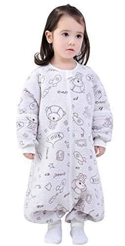 Happy Cherry - Pijama de Bebé Niños Infantil Algodón Saco de Dormir con Estampado Lindo Caliente...