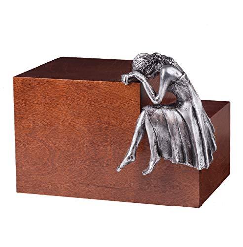 Urne funéraire Artistique Unique pour Cendres pour Adulte Nostalgie Art13BLO, Marron, Capacity: 4,8 Liters (292.91 Cubic inch)