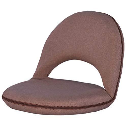 BSMEAN Silla de Piso Asiento Ajustable en El Piso con Respaldo Silla de Meditación Plegable Silla de Tatami para Sala de Estar Dormitorio Café