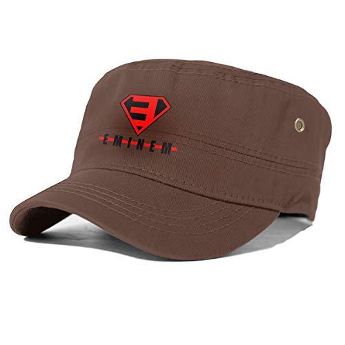 Eminem Super Logo Adult Flat Cap Herren Baumwolle Army Kappe Cadet Hat Military Flat Top Verstellbare Baseballmütze Coffee 69040249
