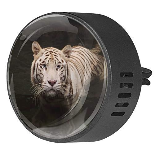 MUMIMI Difusor de aceites esenciales para aromaterapia para coche, 2 unidades, diseño de tigre salvaje
