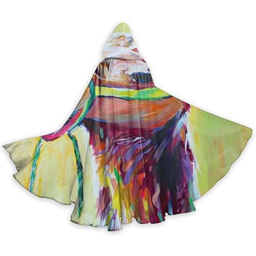 Zome Lag volwassen capuchon mantel, Party Cape, Unisex Halloween mantel, Halloween Kerst Cosplay Kostuums, Kleurrijke Camel Mantel Van Warlock,Devil Heks Wizard Cape