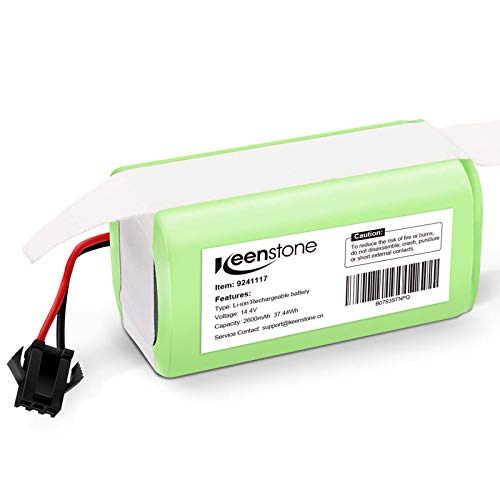 Keenstone Batería de Reemplazo para Conga Excellence 990, 14.4V 2600mah Li-Ion, Compatible con Conga Excellence 990 950 1090 DEEBOT N79S N79 Eufy RoboVac 11 11S 30 30C 12 35C IKOHS NETBOT S14 S15 ✅