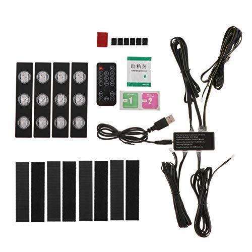#N/a Lámpara de Iluminación Remota USB LED de Luz de Interior de Coche de 10 Unids/Set - RGB