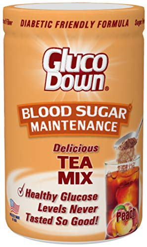 GlucoDown, Diabetic Friendly Tea Mix, Delicious Peach, Helps Maintain Healthy Blood Sugar, 45 Servings.