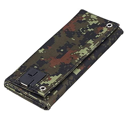 Cargador de células solares USB, práctico de usar Cómodo de usar Panel solar USB impermeable Alta confiabilidad para exteriores para teléfonos móviles(camuflaje, Tipo de torre inclinada de Pisa)