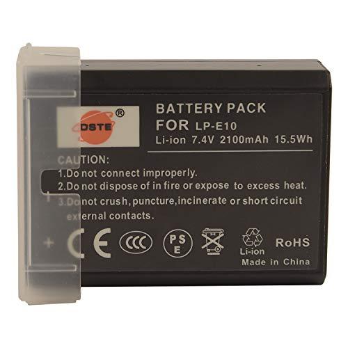 DSTE Repuesto Batería para Canon LP-E10 EOS 1100D 1200D EOS Kiss X50 X70 EOS Rebel T3 T5