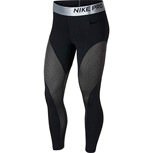 Nike Women's Pro Warm 7/8 Training Tights (Black, Small)