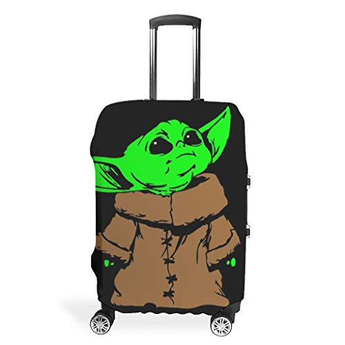 NiTIAN Luggage Cover Washable Fashion Spandex Baggage Suitcase Cover Dustproof Anti-Thief Baggage Cover yoda Printing White XL (76x101cm)