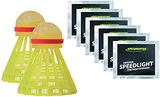 Speedminton Night Play Badminton Birdie Set Including 6 Lights