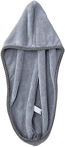 Gorro de pelo de coral de secado rápido Pelo turbante toalla microfibra pelo rápido seco toalla envoltura toalla toalla gorra mujeres champú rápido mágico secador fregar limpieza herramienta de limpie