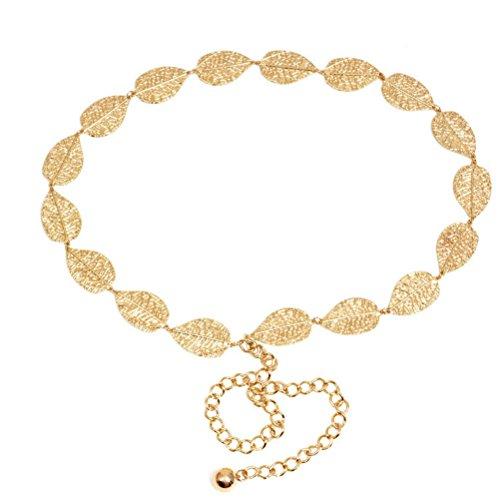 LUOEM - Cinturón - para mujer dorado dorado Medium