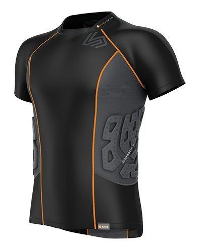 Shock Doctor Men's Ultra Shock Skin 3-Pad Impact Shirt - Black/Grey, X-Large
