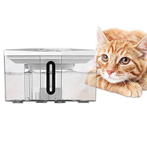 YUZE 自動給水器 ペット給水器 犬 猫 ペット用品 噴水式 給水器 超静音 2L大容量 広い水面 5回濾過 活性炭フィルター フィルター式 省エネ お留守番対応 自動ウォーター 水飲み 1年保証