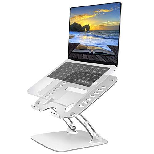 TECOOL Supporto PC Portatile, Regolabile Supporto per Laptop Alluminio Multi-Angolo Ventilato Sostegno Pc Portatile per MacBook PRO, Air, dell, HP, Tutti i Tablet Notebook da 9,7 ~ 15,6