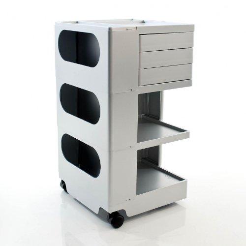 Boby M 33 Rollcontainer, aluminium 3 Schubkästen BxHxT 43x73,5x42cm