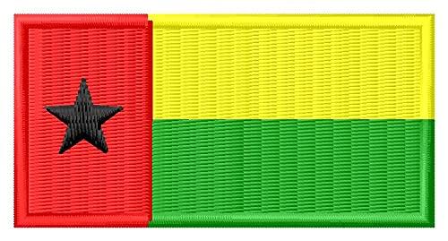 Flagge Guinea Bissau Aufnäher Parche Bordado Brodé Patch écusson Toppa Ricamata