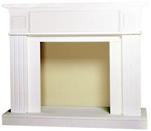 Classic Fire Da Vinci Kamineinfassung Weiß, Holz, 110 x 96 x 36 cm