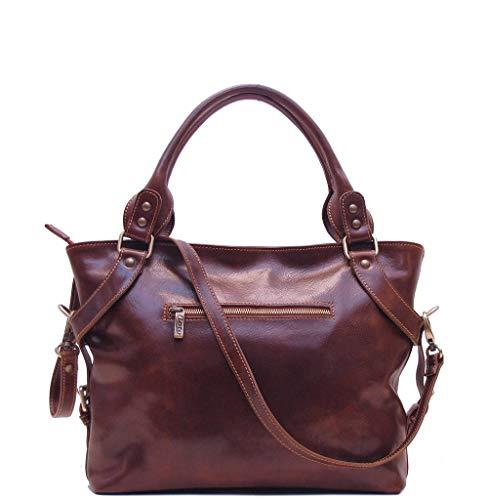 Floto Brown Taormina Bag in Italian Calfskin Leather - handbag, shoulder bag, hobo