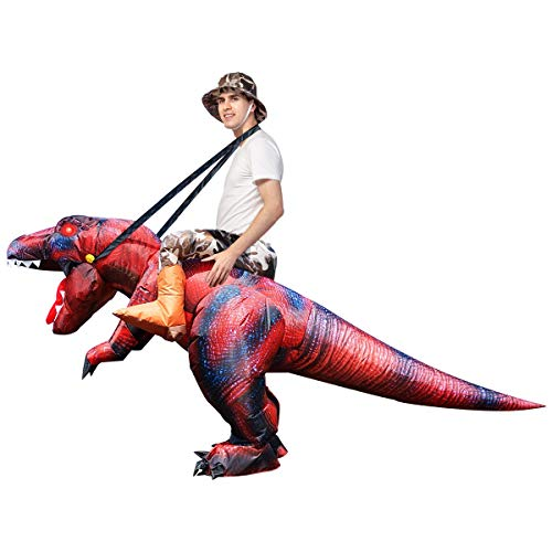 GOOSH Halloween Inflatable Dinosaur Costume Child for Tall Air Blow-up Deluxe T Rex Dinosaur (55...