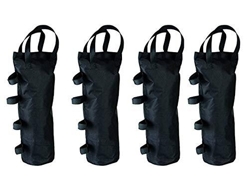 Lot de 4 Sacs de Sable pour tonnelle et Tente avec Fermeture Velcro jusqu'à Max. 15 kg x 15 x 50 cm