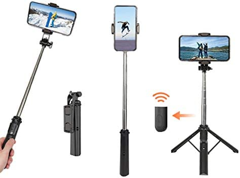 UPXON Selfie Stick Tripod 360 Rotation Phone Tripod with Bluetooth Wireless Remote Extendable product image