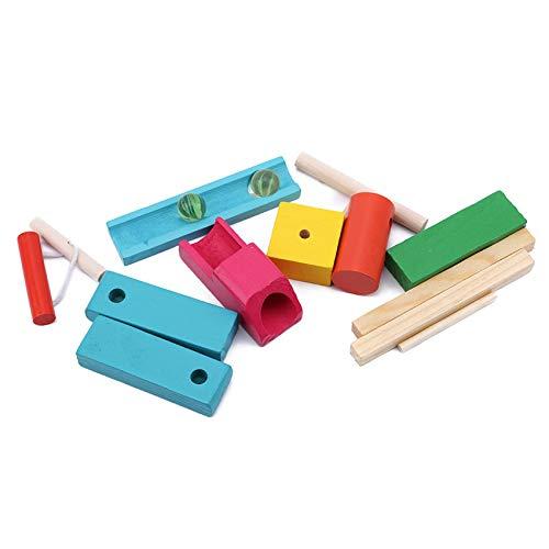 Huaicheng Kids Domino Stacking Toy Juego de mesa Juego de mesa de bebé juguete educativo para niños pequeños, 11-17