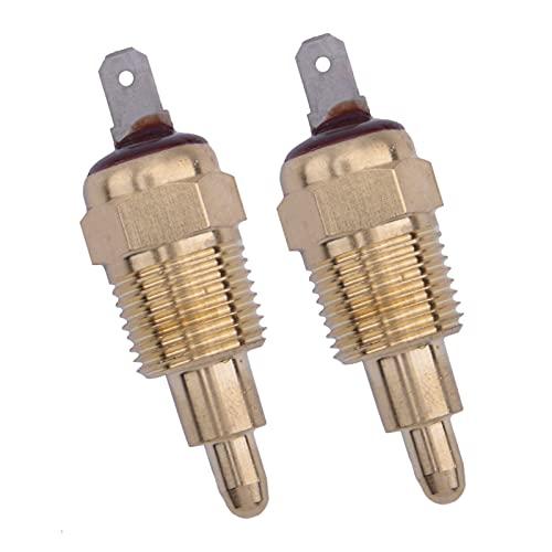 Decorel 2 unids 185-200 Grado Motor eléctrico de enfriamiento de refrigeración Termostato Interruptores de Temperatura Ajuste para automóvil SUV Off Road Pickup MPV RV