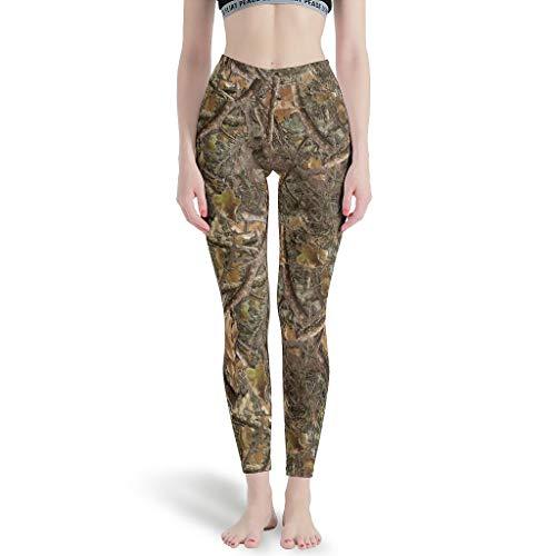 Sylves Mujeres Coníferas Camuflaje Leggings Pilates Pantalones Yoga Pantalones para Pilates blanco xs