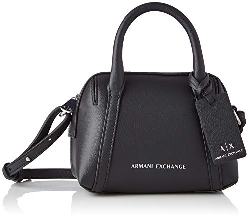 Armani Exchange Small Duffle, Fragancia pequeña. para Mujer, negro, Einheitsgröße