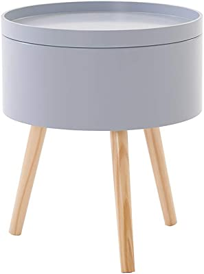 Gototop 2en1 Table Basse Ronde Blanche Moderne Table Dappoint
