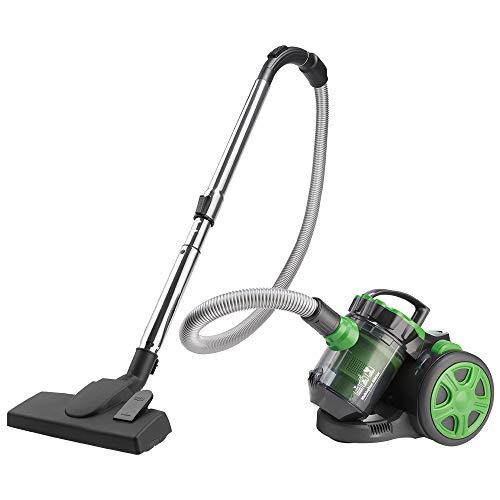 Monzana Aspiradora multiciclónica Verde sin bolsa 900W filtro HEPA 3L silenciosa cepillo 2en1 aspirador muebles suelo