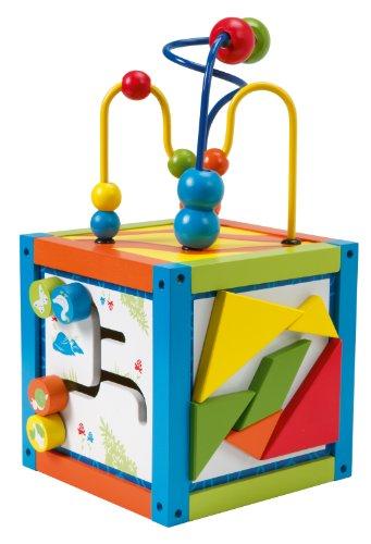roba Spielcenter 'Aktivwürfel', Motorik Spielwürfel für Babys & Kleinkinder mit Motorikschleife &...