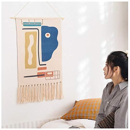 Ykun Hintergrundtuch, hängendes Tuchweben, Quastentapisserie, Nachtwandtuch des Schlafsaalumwandlungsraums-B.