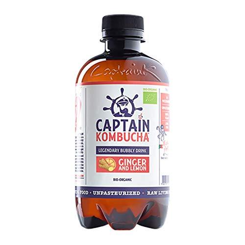 Captain Kombucha Ginger Lemon, 400 ml, 1 unidad