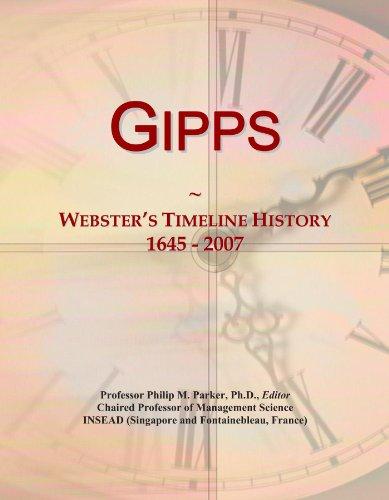 Gipps: Webster\'s Timeline History, 1645 - 2007