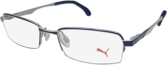 Puma 15418 Mens/Womens Spring Hinges TIGHT-FIT Designed for Running/Gym/Sports Activities Eyeglasses/Eyeglass Frame