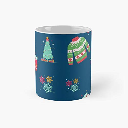 Holiday Favorites A Christmas Design Classic Mug | Best Gift Funny Coffee Mugs 11 Oz