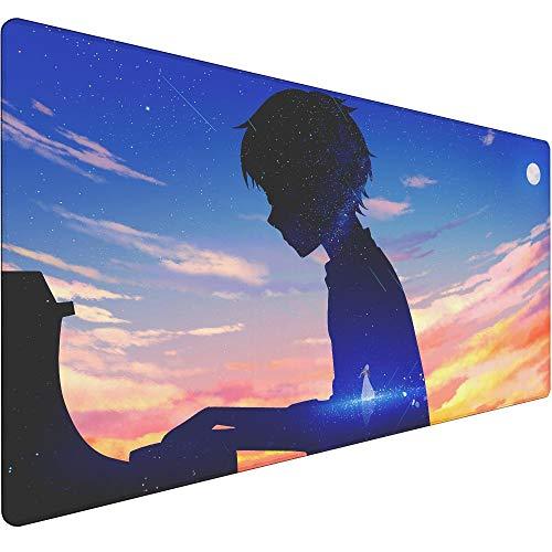Große 900X400X3MM XXL Maus Pad Gamer Mode Anti-slip Gaming Genius Pianist-1 Mauspad XL Natürliche Gummi locking Rand Schreibtisch Matte Anime Mauspad