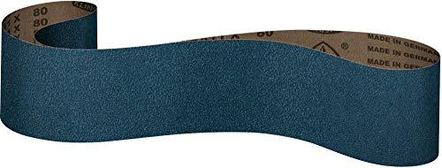 Klingspor CS 411 X - Bandas de lija (100 x 610 mm, 6 unidades, 2 bandas de grano P24, P36, P40)
