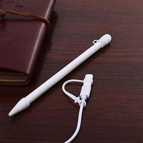 Dmtrab para 3 en 1 Anti-perdido (Tapa de lápiz + Punto de lápiz + Adaptador) Touchpen Silicone Protective Set para Apple Lápiz/iPad Pro (Color : White)