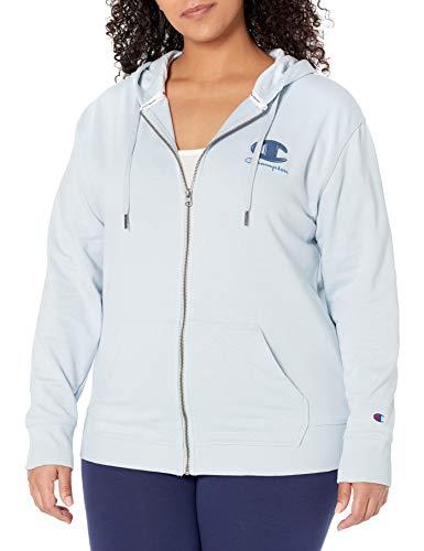 Champion Women's Plus Size Hoodie, Snowdrop Grey, 4X