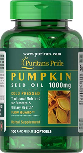 Puritans Pride Pumpkin seed oil 1000 mg for men 100 Softgels